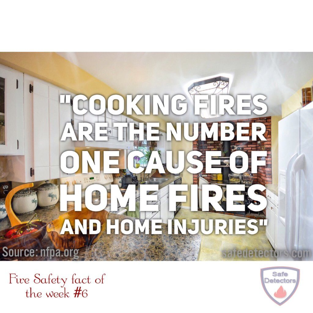 According to the NFPA, cooking fires are the number one