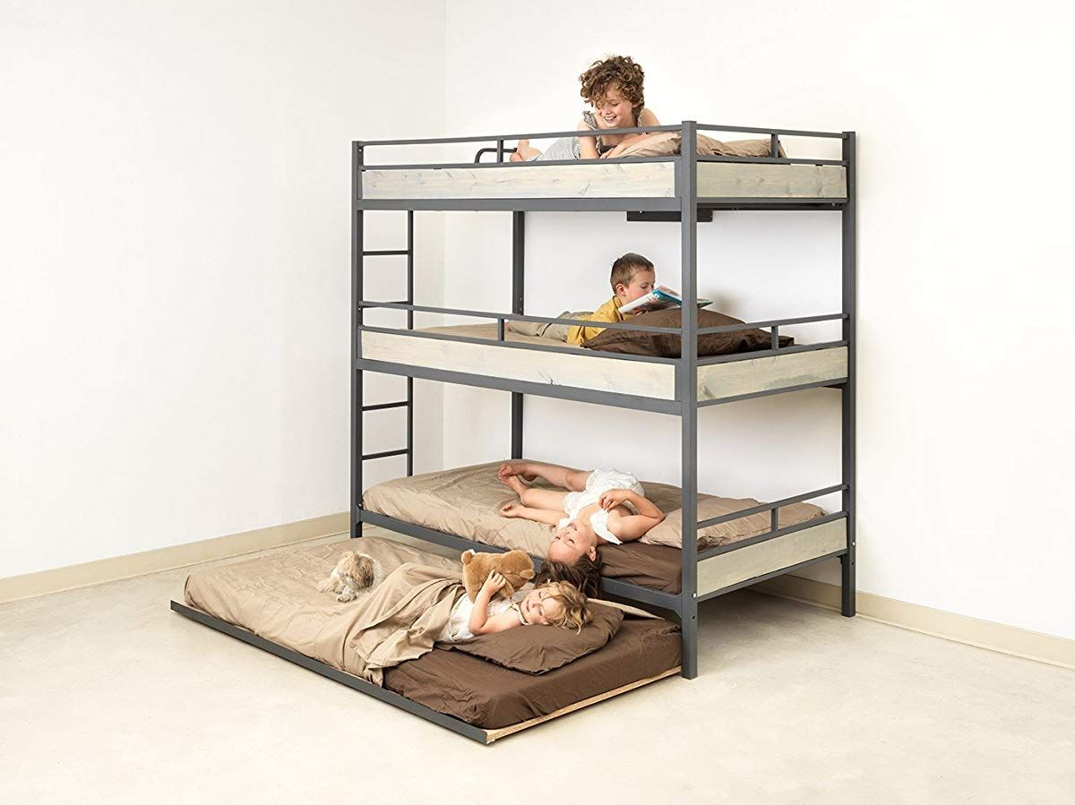 Triple Bunk Bed With Trundle Bunk Bed With Trundle Triple Bunk Bed Diy Bunk Bed