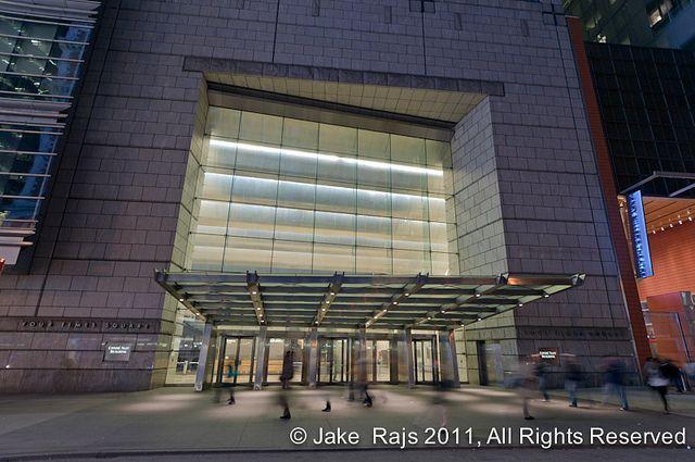 Conde Nast Building Overhang Entrance Design Architect Entrance