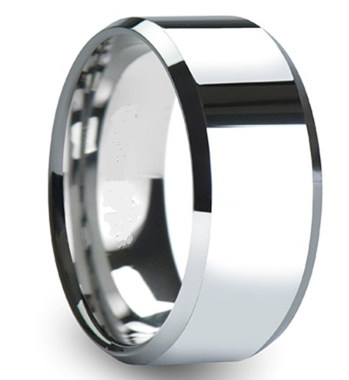 10mm Tungsten Rings Mens 10mm Wedding Band 10mm Beveled Tungsten Rings Tungsten Mens Rings Tungsten Ring 10mm Tungsten Ring