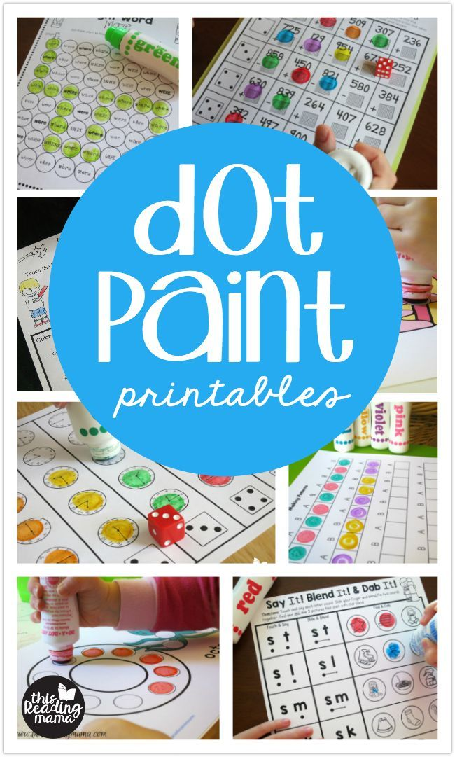 Dot Paint Printables | Pinterest | Literacy, Activities and Literacy ...