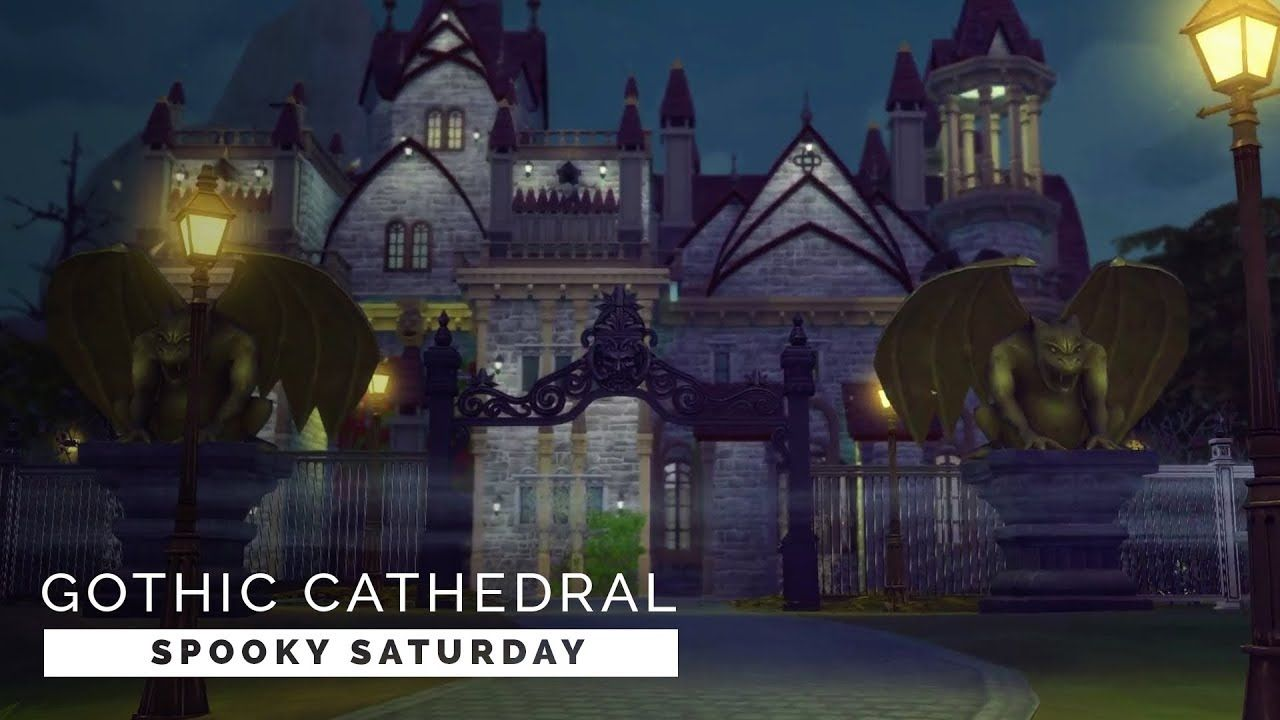 Sims 4 Speedbuild Spooky Saturday Gothic Wedding Venue Sims