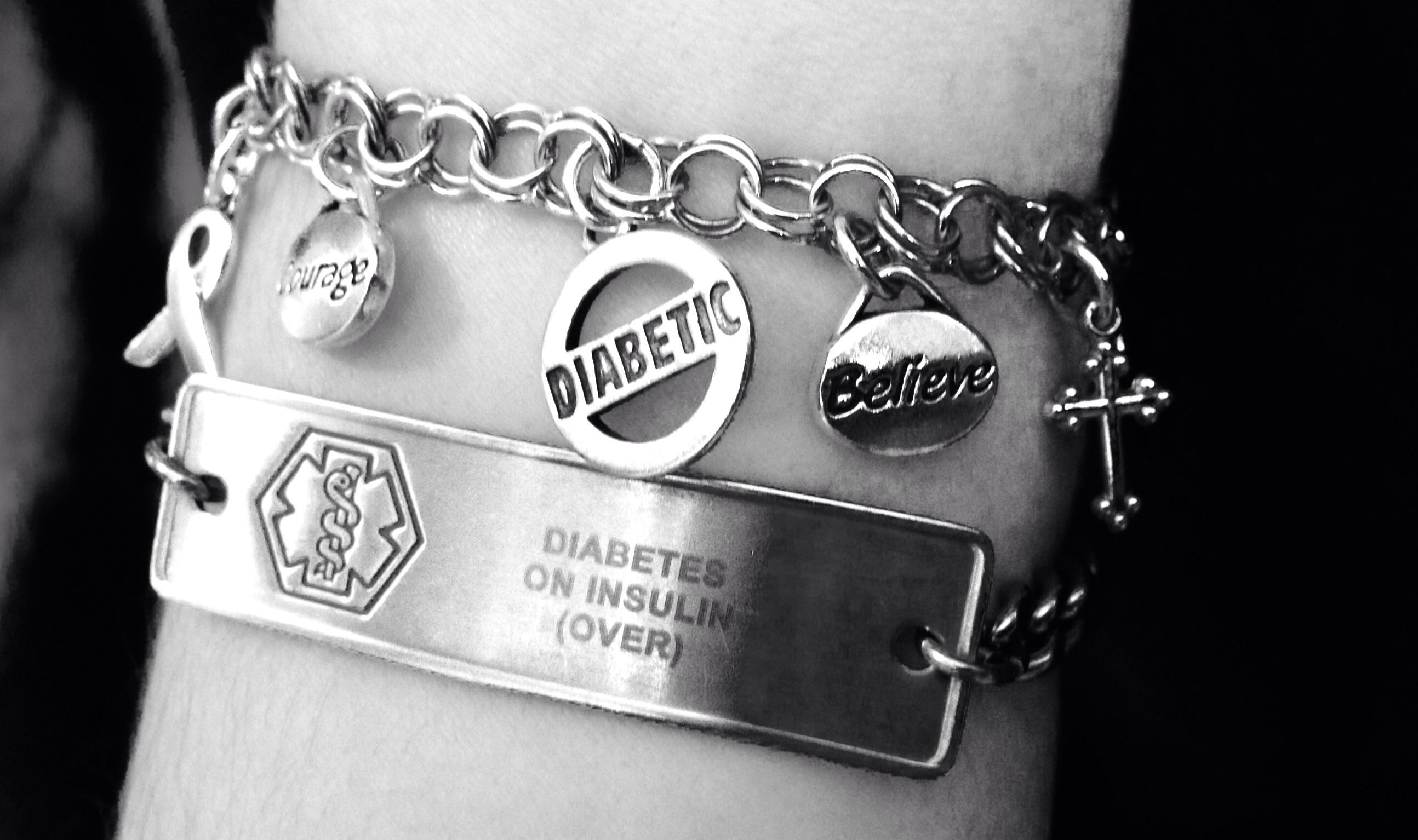 diabetes type alert insulin pre product pump gold engraved bracelet medical plated