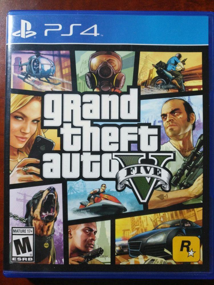 Grand Theft Auto V (Sony PlayStation 4, 2014) ps4 gaming