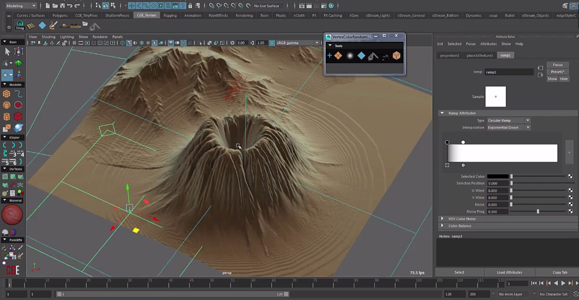 Autodesk Maya Easy Terrain Creation Script Maya Tools