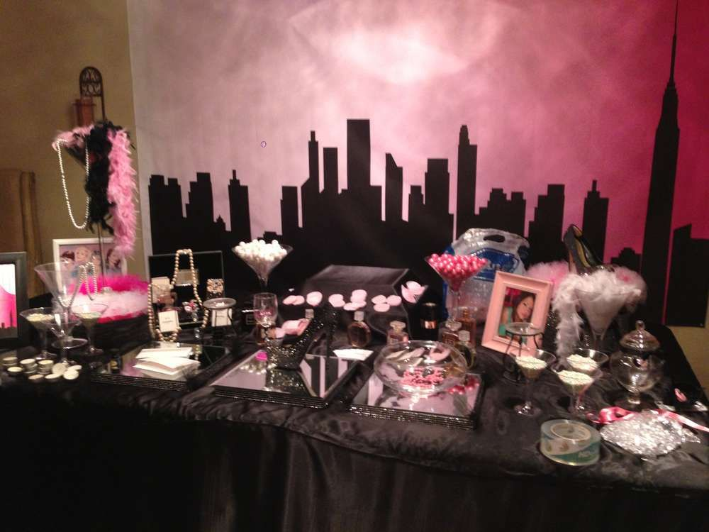 Chanel sex and the city birthday party ideas birthday for 35th birthday decoration ideas