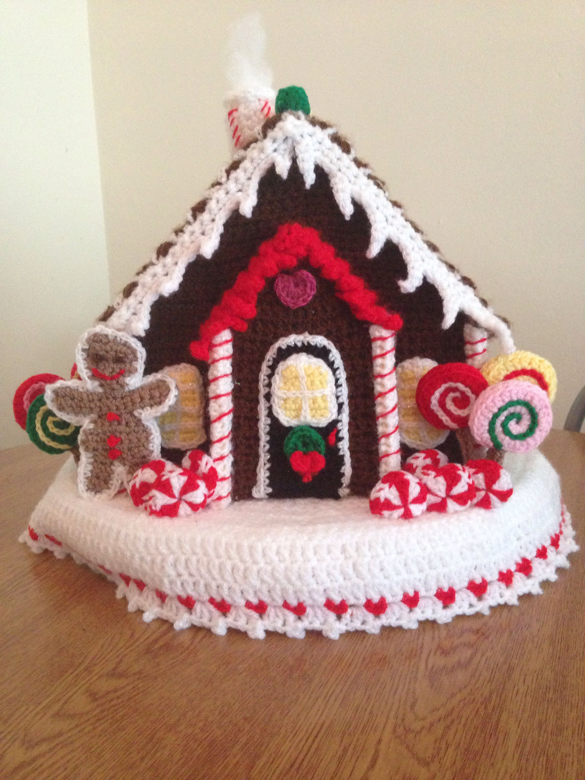 my crocheted christmas gingerbread house weihnachten pinterest weihnachten h keln und. Black Bedroom Furniture Sets. Home Design Ideas