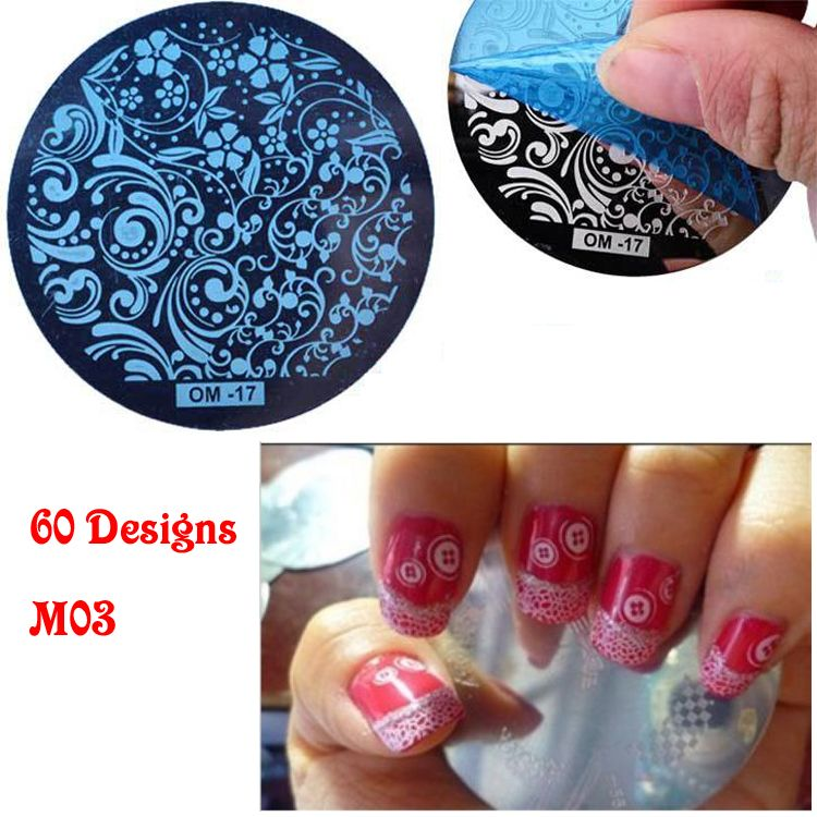 60 Designs 5cm Round Steel Wholesale Alibaba Nail Supplies Stamping ...
