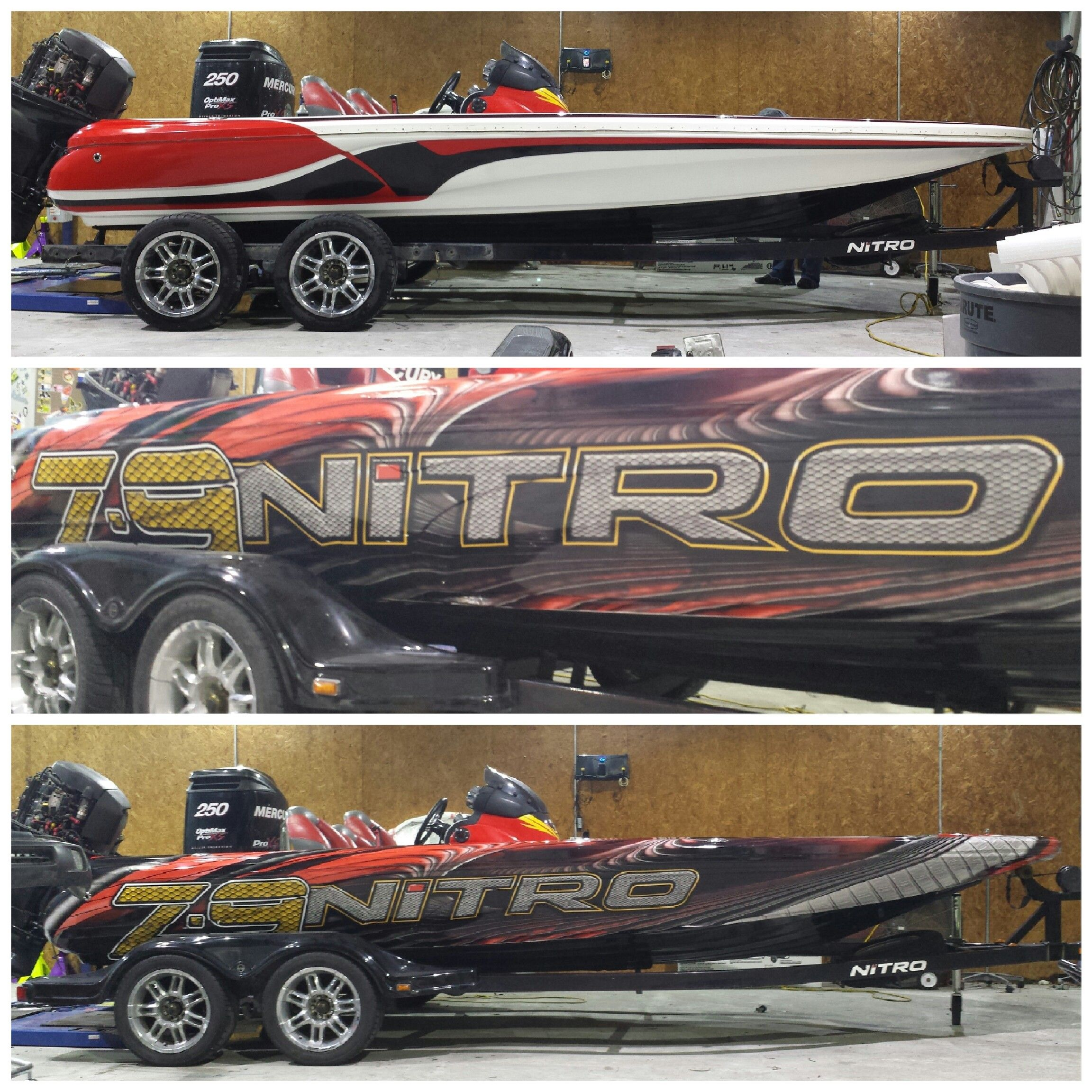 NITRO Z9 bass boat wrapped for another professional