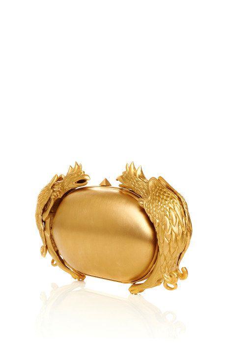 Gold Gryphon Miniaudiere by Valentino - Moda Operandi on Wanelo