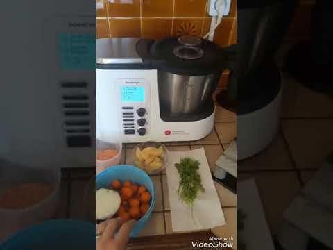 Soupe de lentilles corail au robot monsieur cuisine plus #recettemonsieurcuisinesilvercrest