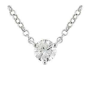 Diamond solitaire necklace beauty and style pinterest diamond solitaire necklace aloadofball Image collections
