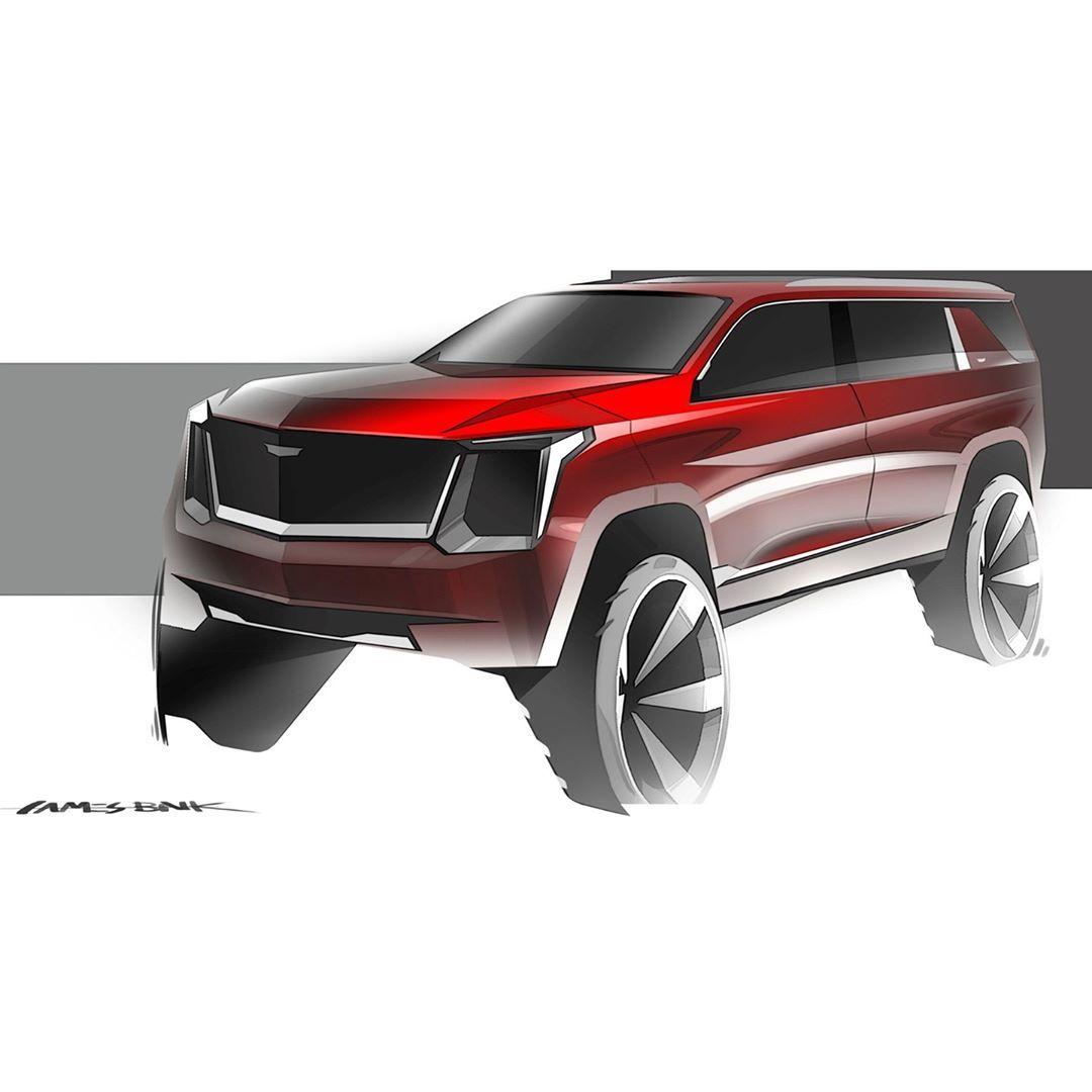 "GM Design on Instagram: ""Big red truck. Great sketch by James Baik. @jdaw91 ⠀ #GMdesign #car #design #cardesign #cardesignsketch #cardesignworld #SUV…"""