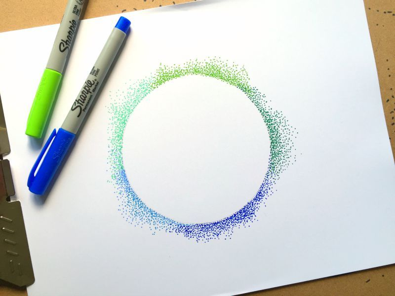 Dotty Art Technique Pointillism Art Techniques Pointillism