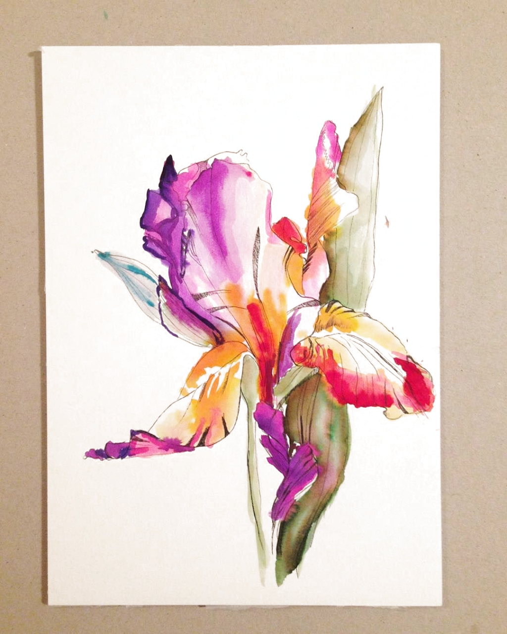 If I could, Id be painting 24/7🌸🌺🌸 #illustration #watercolor #flowers #flowerstagram #mood #print #printdesign #sketch #sketchbook #textiledesign #berlin #pattern #patterndesign #surfacedesign #floral #botanical #mood #inspiration #iris #nature #instart #art #artwork #printandpattern