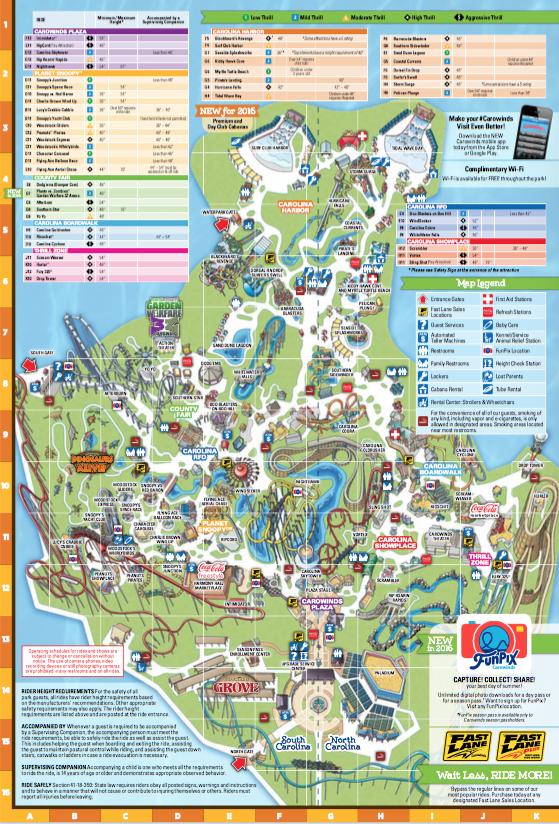 Map Of Carowinds Map of Carowinds   Summer Fun   Map, Summer fun, How to plan Map Of Carowinds
