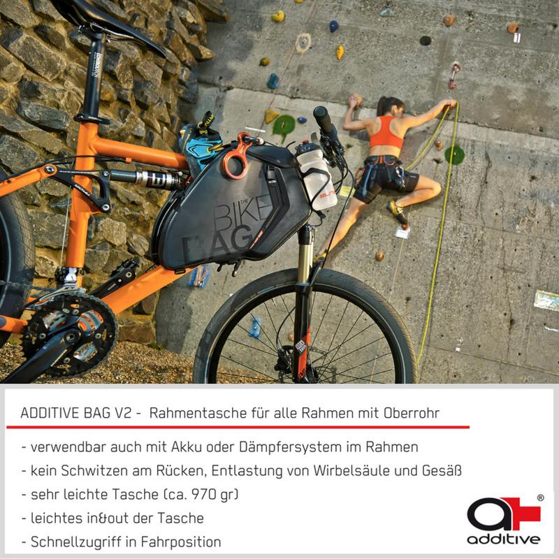 die ADDITIVE BAG V2 - die Fahrrad Rahmentasche für MTB Fullys, e ...