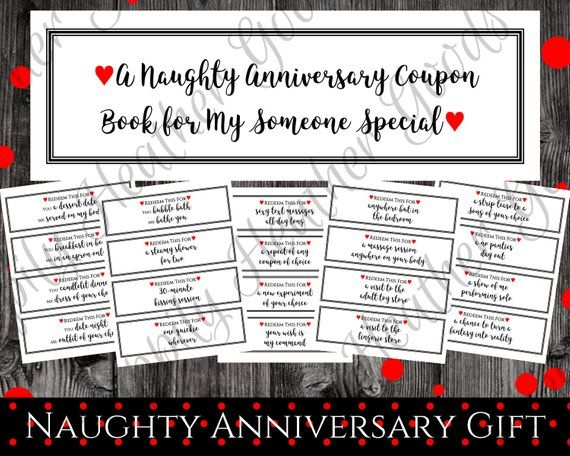 coupon book anniversary gift