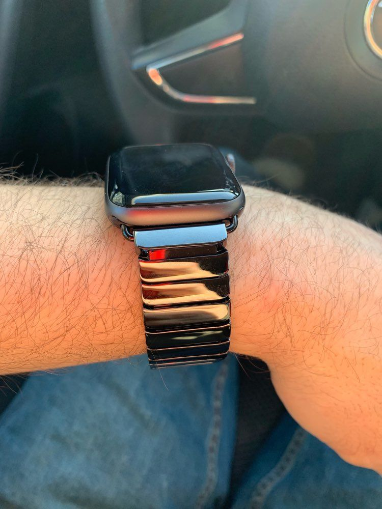 Apple Watch Series 5 4 3 2 Band, Ceramic link, Luxury