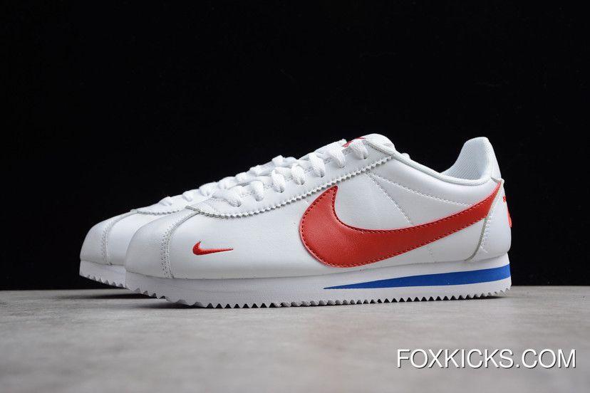 promo code 497b1 e5a6a Women Men Online Nike Classic Cortez Premium White Varsity Red-Varsity Royal  807480