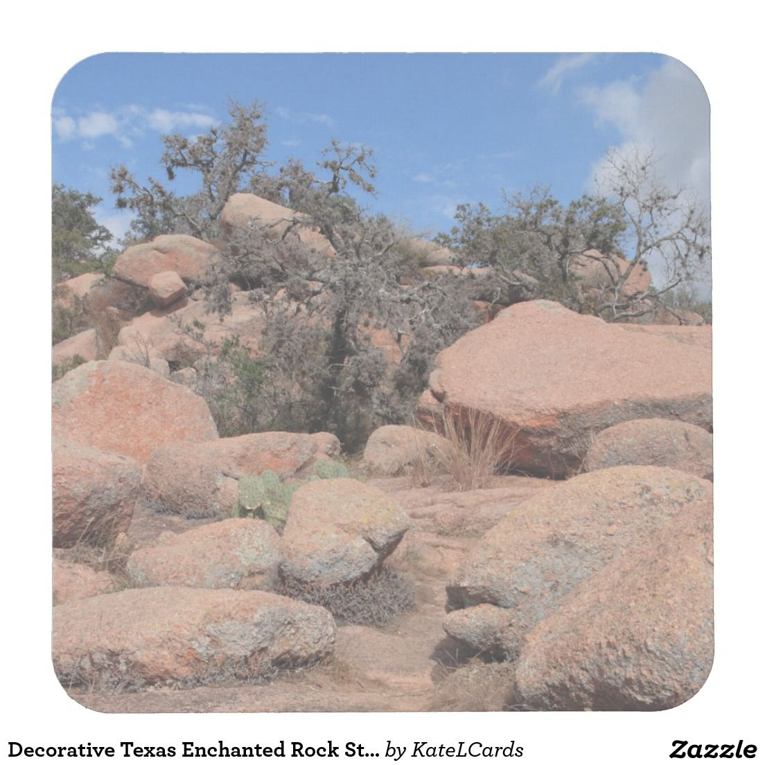 Texas Enchanted Rock State Park Pink Granite Square Paper