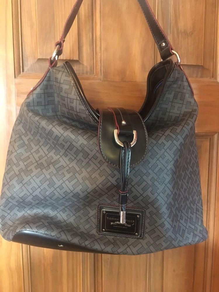 dbbce8cbd8 Tommy Hilfiger Purse/ Tote bag. Black And Grey #fashion #clothing #shoes  #accessories #womensbagshandbags (ebay link)