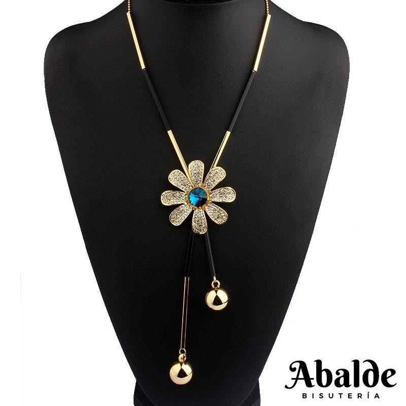 Collar Colgante Mujer Diseño Flor Bijoux Joya Tendencia