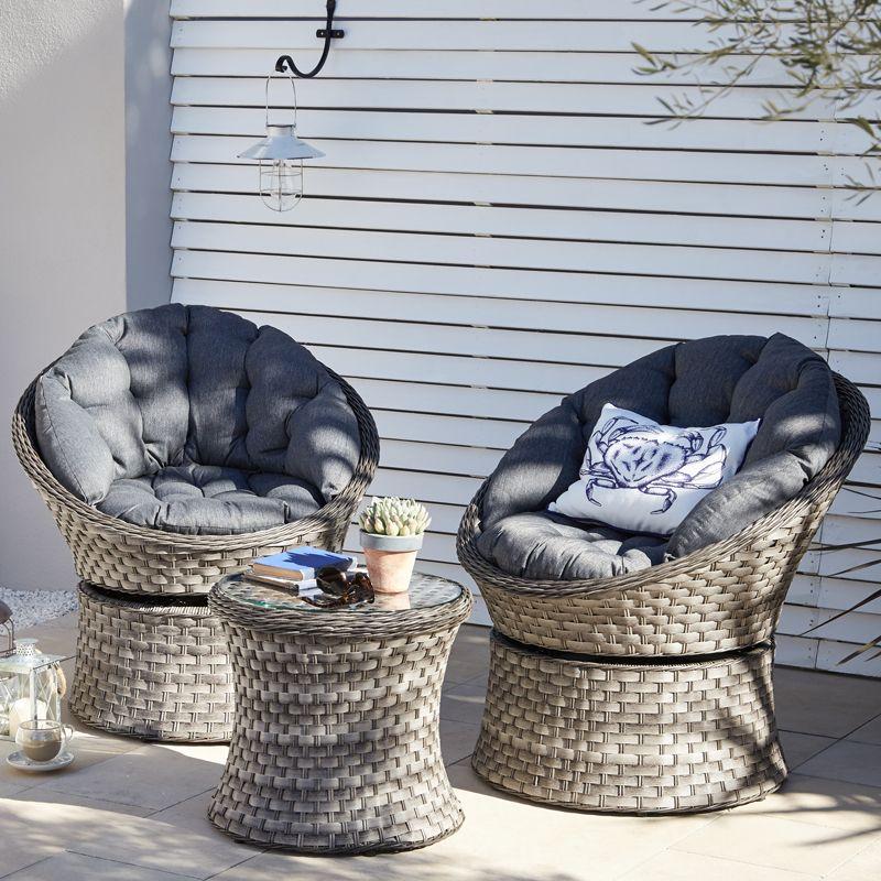 Monaco Swivel Bistro - Dobbies Garden Centres   Ротанг   Pinterest