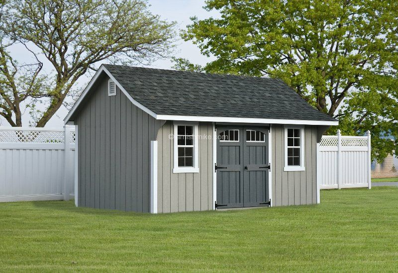 Amish Garden Sheds | 10' x 16' with optional transom windows, garden vents