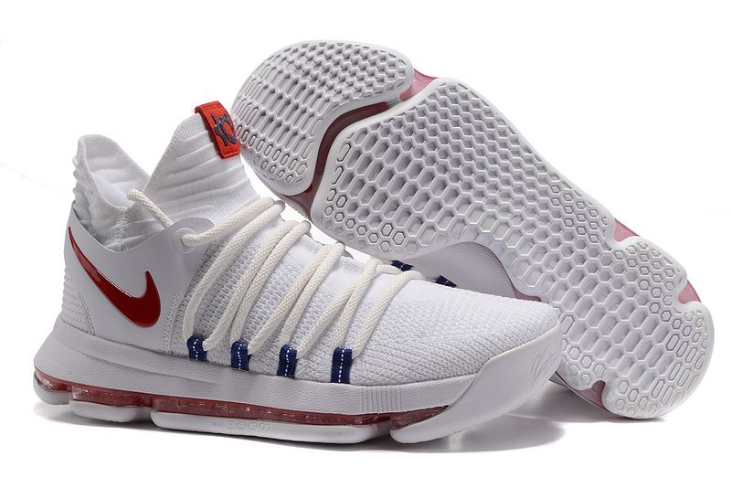 best website 3f29d 8c3bf 2017 Nike Zoom KD 10 USA White Red basketball shoes,cheap nike kd 10