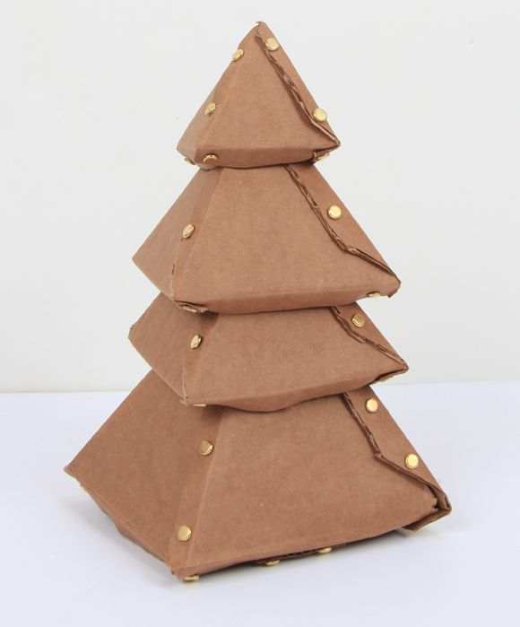 cardboard christmas tree diy - Cardboard Christmas Decorations