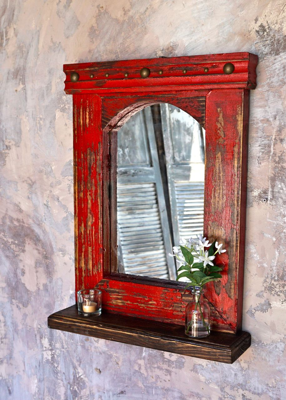 Esteban Mirror Shelf In 2019 Livingroom Ideas Rustic