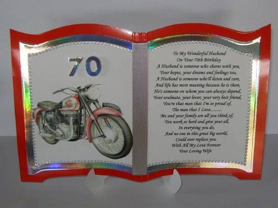 Pin By Maryrose S On Health And Fitness 70th Birthday Card Husband Birthday Card Birthday Verses