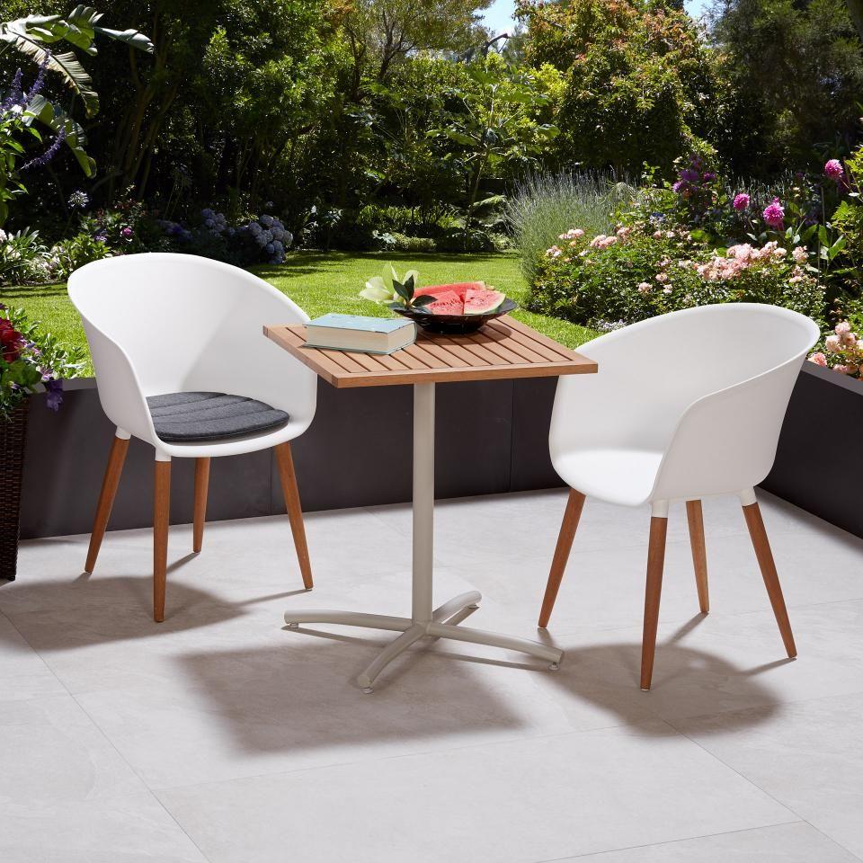 Chaise De Jardin Ontario Blanc Jysk En 2020 Chaise De Jardin Chaise Mobilier De Salon