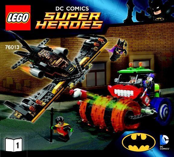 View LEGO instructions for Batman: The Joker Steam Roller