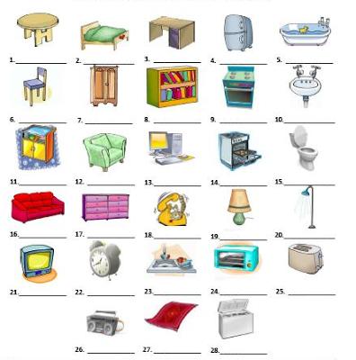 Muebles En Ingles Para Ninos Con Cabeza Muebles En Ingles