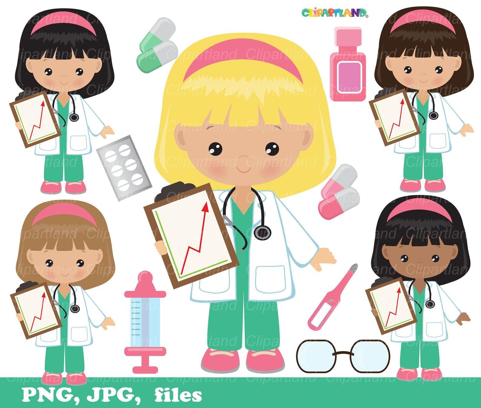 Big sale instant download doctor nurse clip art etsy