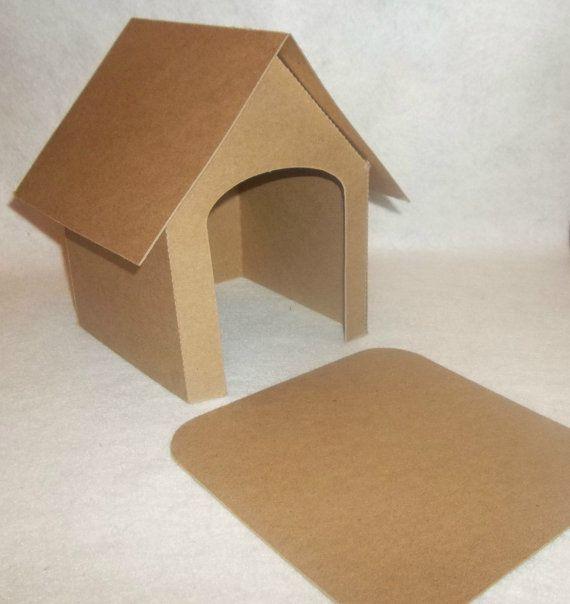 Cardboard Diy 7 1 2 Tall Dog House Insulated Dog House Dog