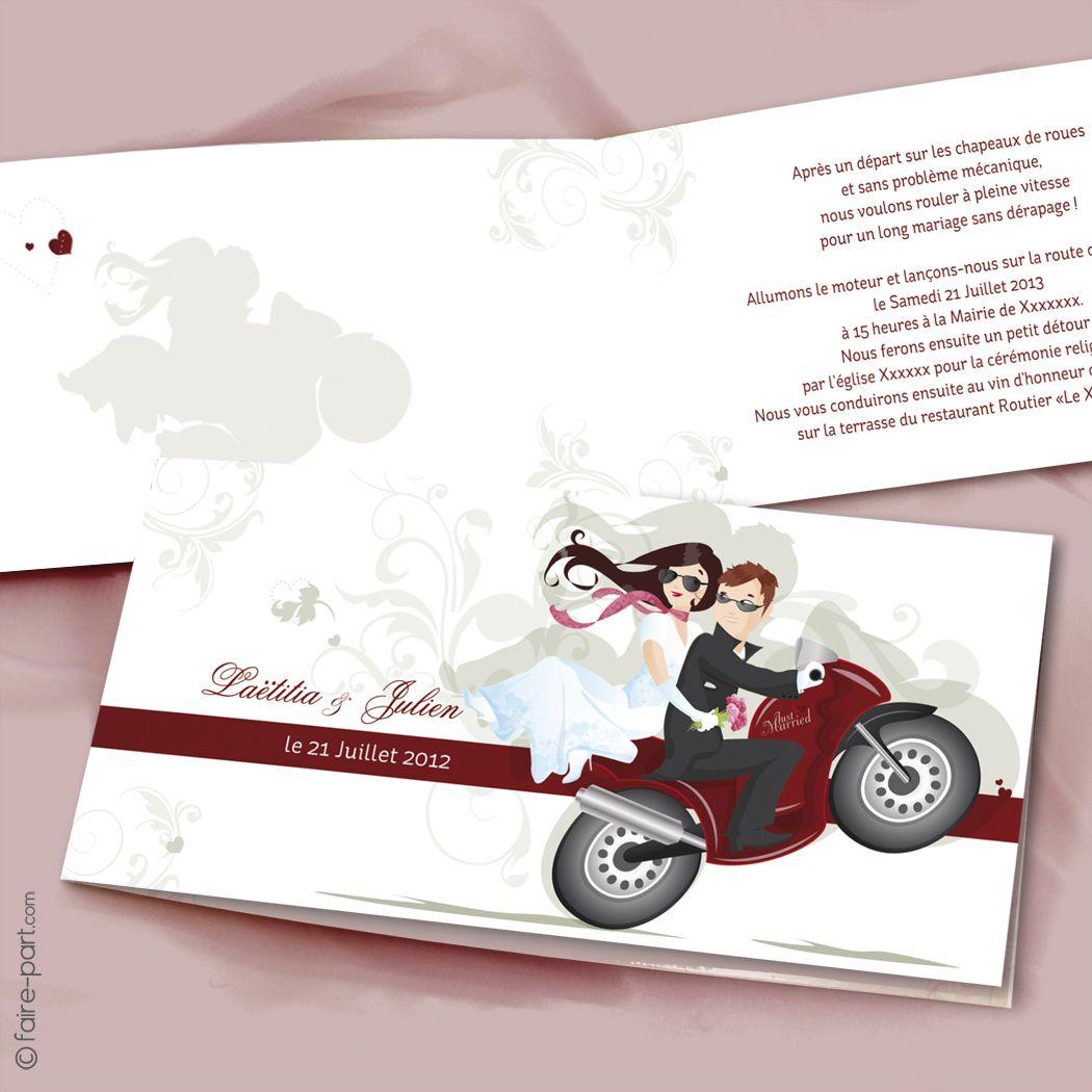mariage une moto pour 2 faire part mariage faire part mariage moto et idee faire part mariage