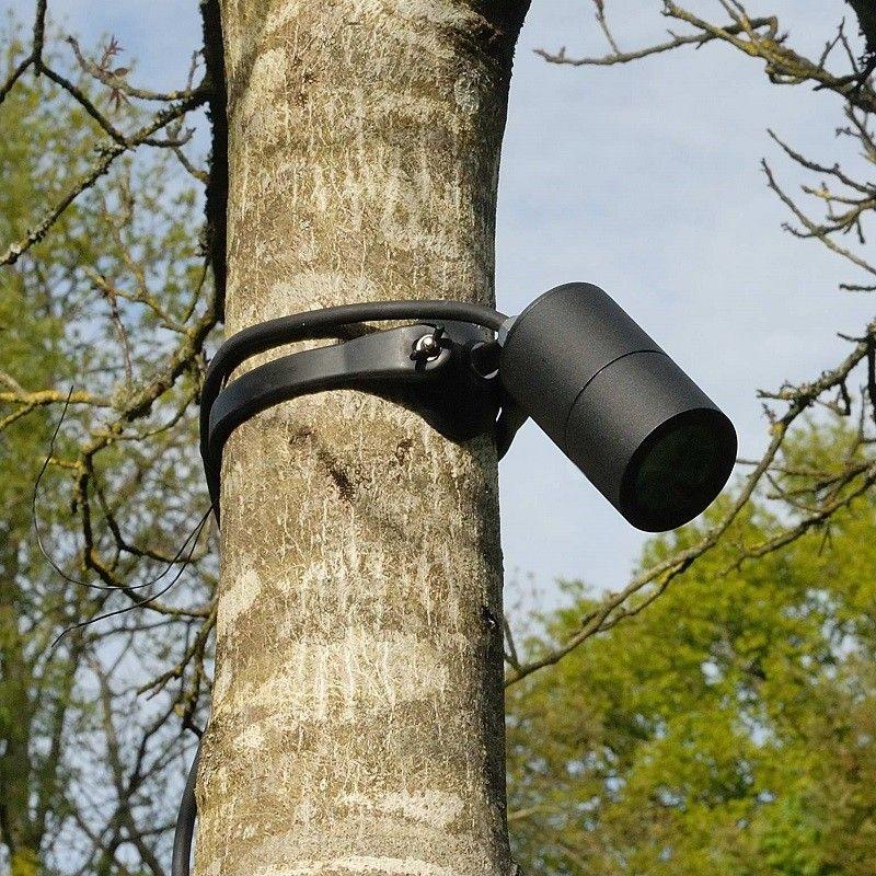 Strap Mount Tree Spotlight Mr16 Black Lighting