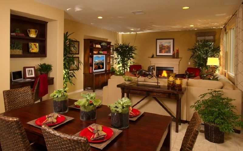 Cool kitchen dining and living room combo for small space for Living room dining room layout