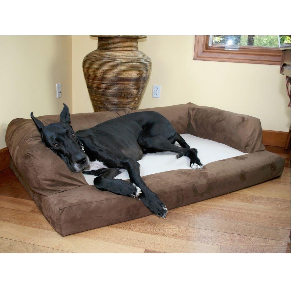 Orthopedic Dog Bed Xl Extra Large Washable Pet Sofa Great Dane Huge Jumbo Brown Dog Bed Great Dane Bed Huge Dog Beds