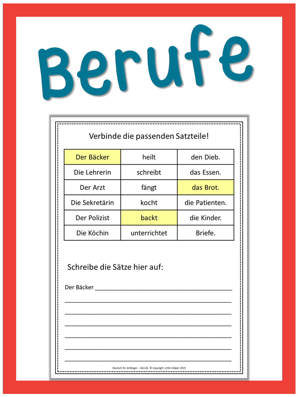 german professions worksheets german german language learning english vocabulary list. Black Bedroom Furniture Sets. Home Design Ideas