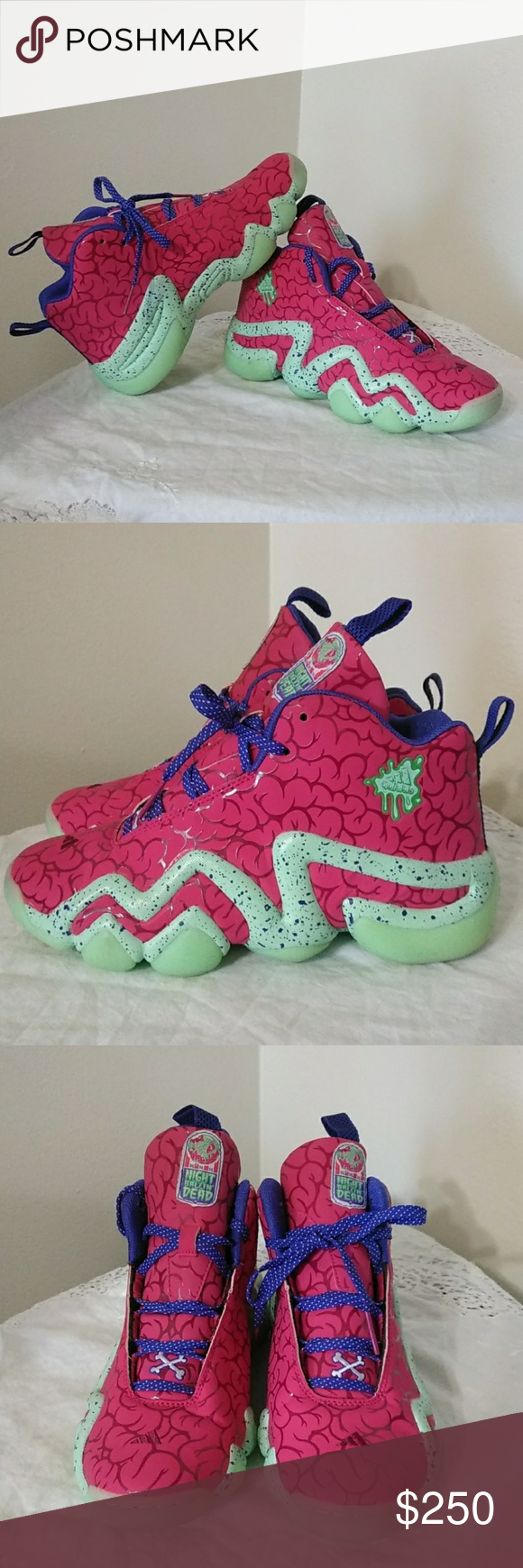 newest 2986f 44eea Adidas Crazy 8 RARE Night of the Ballin Dead s GLOW IN THE DARK ALL MINT  GREEN AREAS EUC NO BOX LIMITED EDT. adidas Shoes Athletic Shoes