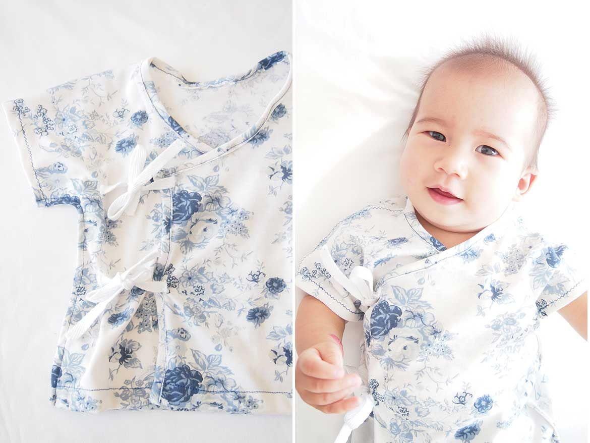 Free Sewing Pattern: Soft and Cosy Baby Kimono | Pinterest | erstes ...