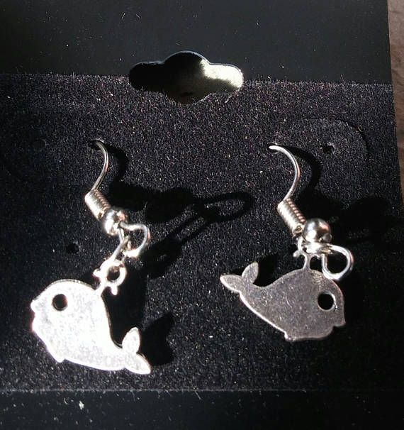 A Charming Pair of Whale, Fish Hook Earrings, Drop Earings, Many Other Designs available including Handbags, Flip Flops, Dresses, Storks, Teddy Bears and many, many more Silver Tone.  All Items can be personalised as you desire.  Gift wrapping is available just contaqct me with your order.  Thank you for your time. | Shop this product here: http://spreesy.com/SpryHandcrafted/191 | Shop all of our products at http://spreesy.com/SpryHandcrafted    | Pinterest selling powered by Spreesy.com