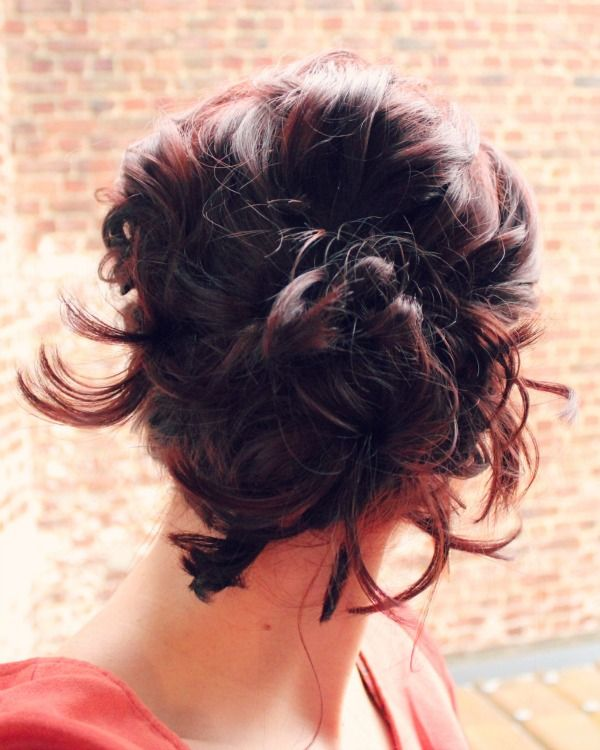 Messy Side Updo Back On Short Hair Mommy Chic Pinterest - Juda hairstyle for short hair
