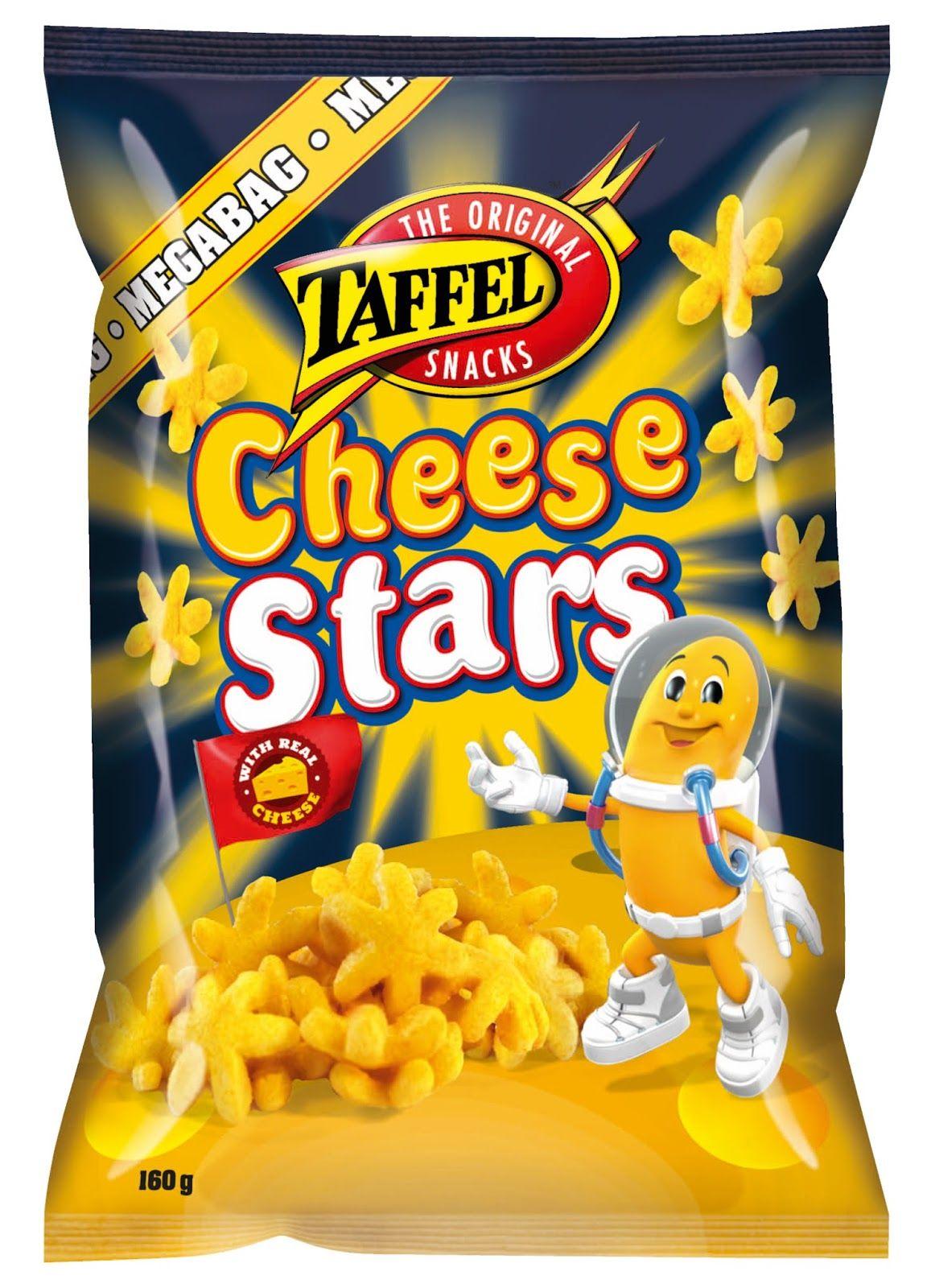 Karkkien, limpparien ja kaikenlaisten mässyjen arvostelublogi: Snack-arvostelu: Taffel Cheese Stars