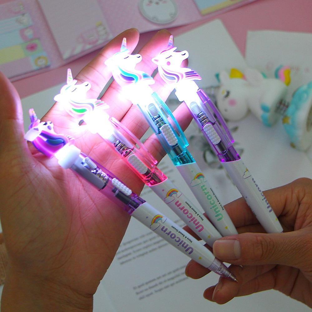 1PC Glowing Unicorn Ballpoint Pen