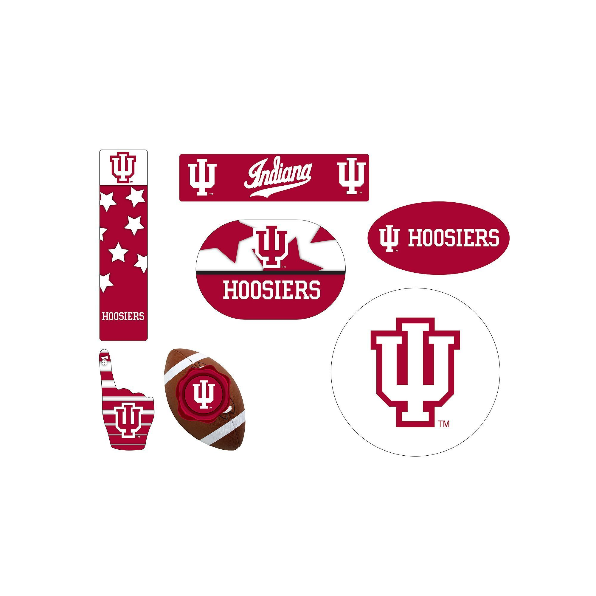 Indiana Hoosiers Tailgate 6-Piece Magnet Set, Multicolor